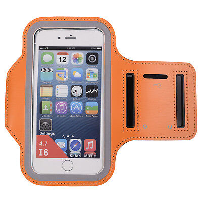 Orange Sport Running Jogging Gym Armband Case Cover Holder for Arm Band iPhone 6