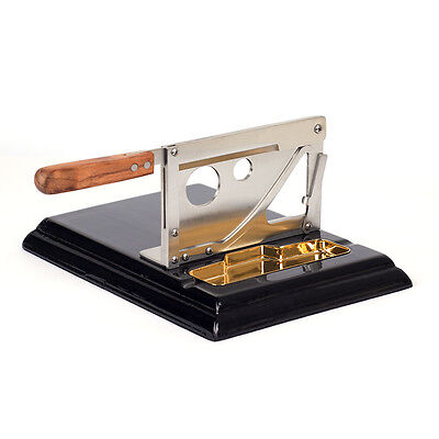 New Stainless Steel Table Top Guillotine Cigar Cutter Slicer