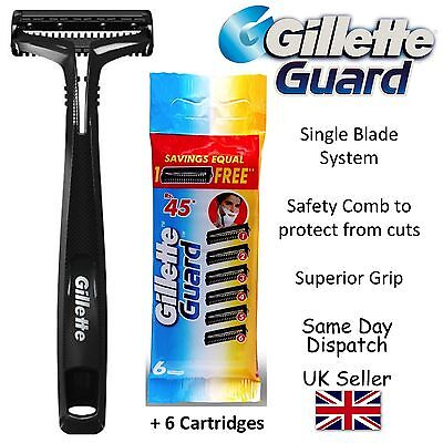 Gillette Guard Classic Razor handle With Chosen Quantity of Blades / Cartridges