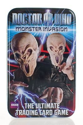 Doctor Who Monster InvasionTrading Kartenspiel Kollektor Dose Dr 2. staffel NEU