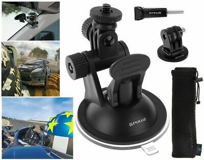 Suction Cup Car Mount Stand Mount Adapter + Storage Bag for GoPro Hero Cameras