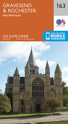 Gravesend and Rochester Explorer Map 163 - New - OS - Ordnance Survey 2015