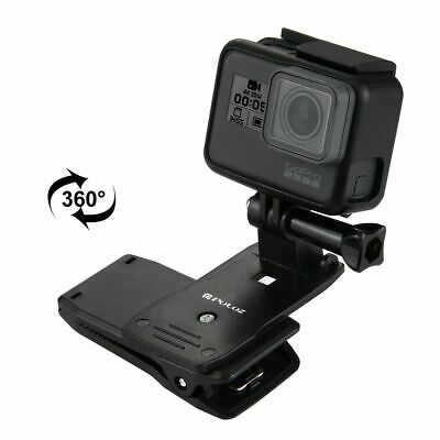 GoPro 360 Rotating Backpack Hat Quick Release Clip Clamp Mount for HERO Cameras