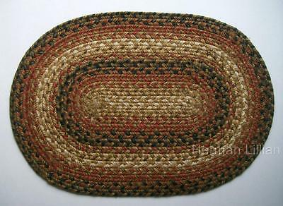 "Homespice RUSSET Braided Jute 13"" X 19"" Placemat"