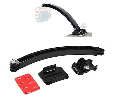Helmet Extension Arm Mount Kit for GoPro Session+ HERO Cameras Bike Cycle