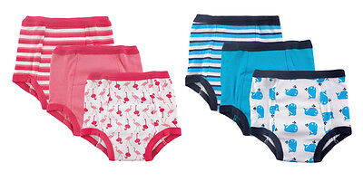 Luvable Friends Water Resistant Baby 3 Pack Potty Training Pants Pink & Blue