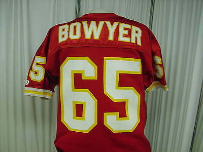 970c20a327f 1993 NFL Kansas City Chiefs Game Used Jersey Worn by #65 Bowyer Size-48