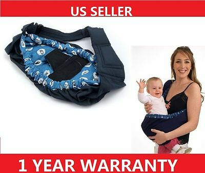 H56 Baby Carrier Infant Newborn Adjustable Sling Wrap Rider Backpack Pouch Ring
