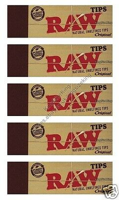 Raw Roach Tips Chlorine Free Filter Roach Hemp (5 pack)