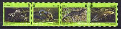 Estonia 2010 Great Crested Newt Strip 4 MNH
