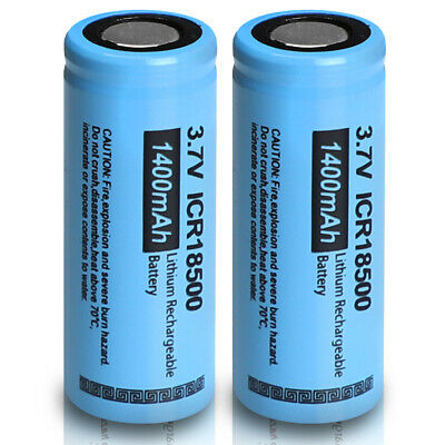 1 ICR 18650 Li-ion Rechargeable Mod Batteries 3.7V 2200mAh Flat Top+ Charger