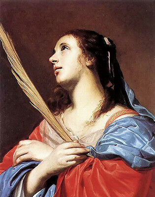 Oil painting jacob van oost the elder - female martyr young woman holding branch