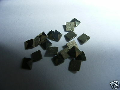 10 Pieces Of Square Marcasite 2.5Mm Fast & Free Delivery