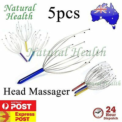 5 x Head Neck Scalp Massager Octopus Massage Equipment Stress Relax  Revive Tool