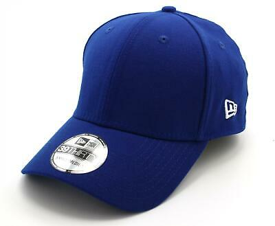 FLAG BASIC 39THIRTY FITTED CAP from NEW ERA. ROYAL BLUE/WHITE LOGO