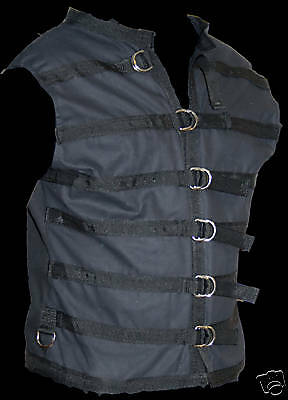 D ring Style VEST  small  Goth Punk gothic black
