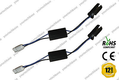 2x T10 W5W 501 Load Resistors CanBus Error Free Adapters For Side Lights Lamps
