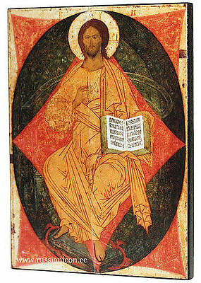 LARGE RUSSIAN ORTHODOX ICON - CHRIST IN MAJESTY. Dionisi. Early XV th century.