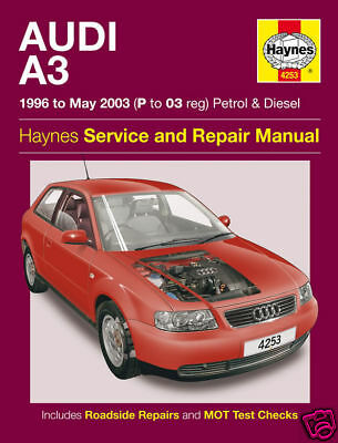 Manuale Haynes Audi A3 1996-2003 Benzina Diesel NUOVO 4253 Nuovo