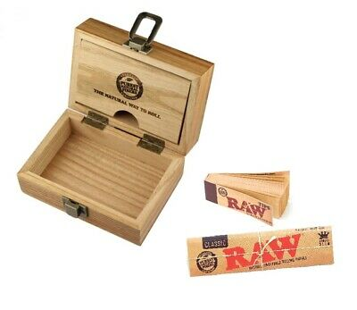 Raw Wooden Rolling Box Wood And RAW Kingsize Rolling Papers And Raw Tips