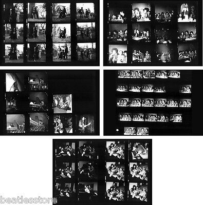 Jimi Hendrix in concert at Star-Club 1967, 5 pages photo negative contact sheets