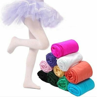 Girls Kids Tights Pantyhose Hosiery Stockings Opaque Ballet Candy Color Socks