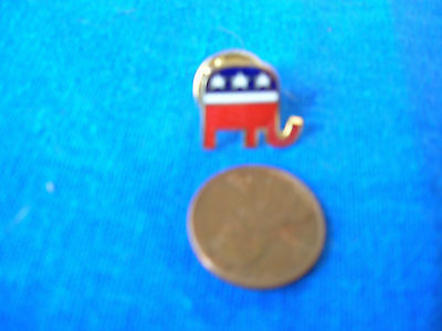 Republican Elephant Logo Red, White and Blue Lapel Pin