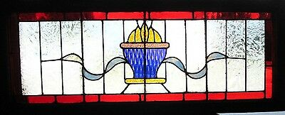 ~ Antique American Stained Glass Transom Window ~ Architectural Salvage