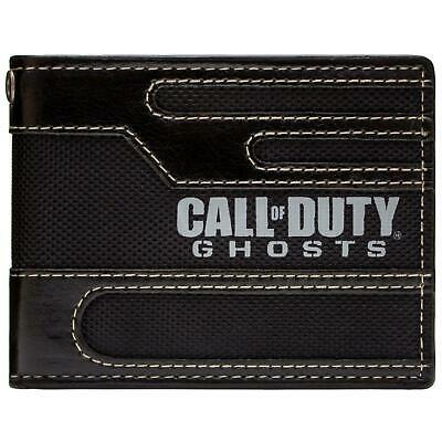 New Official Awesome Call Of Duty Ghosts Black Bi-Fold Wallet *sealed*