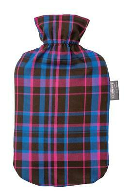 Fashy Hot Water Bottle With Removeable Tartan 100% Cotton Cover