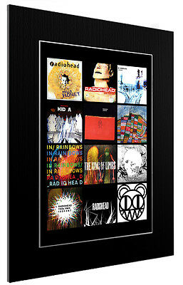 Mounted / Framed Print Radiohead Discography - 3 Sizes Poster Gift Artwork