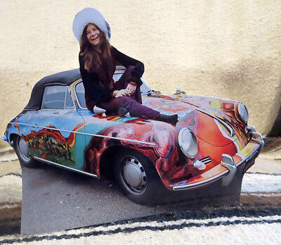 "Janis Joplin and Her Psychedelic 1965 Porsche 356C Tabletop Standee 8"" Long"