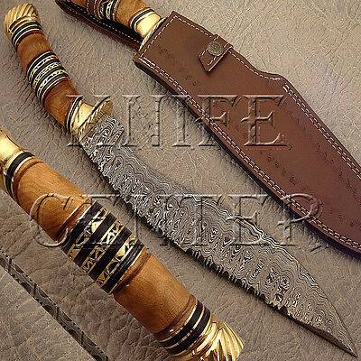 Beautiful Hand Made Damascus Steel Kukri Knife | Hunting Knife | Bowie Knife