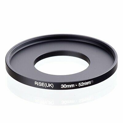 RISE(UK) 30mm-52mm 30-52 mm 30 to 52 Step Up Ring Filter Adapter black
