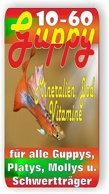 Guppy 10-60 Vitamine, éléments traces, vitaljod, 100 ml