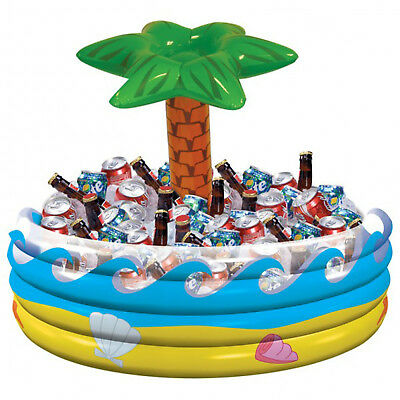 Inflatable Blow Up Palm Tree Drinks Cooler Beer Chiller Hawaiian Pool Party