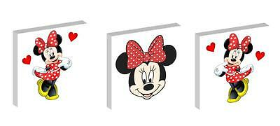 """MINNIE MOUSE RED AND WHITE 10"""" x 10"""" CANVAS PICTURE SET"""