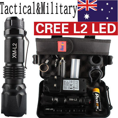 20000LM X800 Shadowhawk Tactical&Military  XM-L L2 LED Flashlight Torch Gift Kit