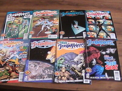 Troublemakers #1,2,3,4,5,6,7,9, lot of 8 Valiant comics