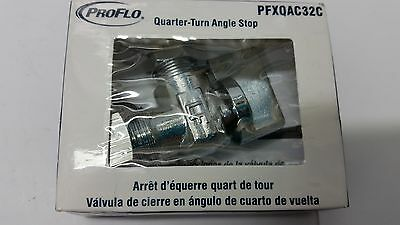 Proflo PFXQAC32C Low-Lead Compliant Quarter-Turn Angle Stop Polished Chrome