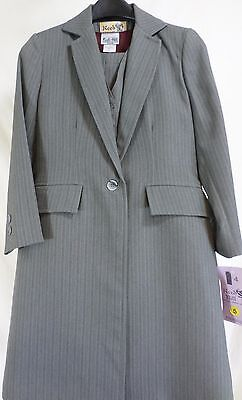 Reed Hill Saddleseat Childs 3pc suit Grey Pin poly size 4 - USA