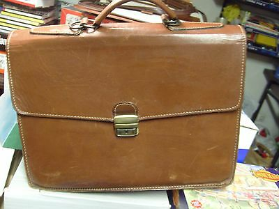 Maletin Cuero. Leather Hand Bag. Used. Good Condition