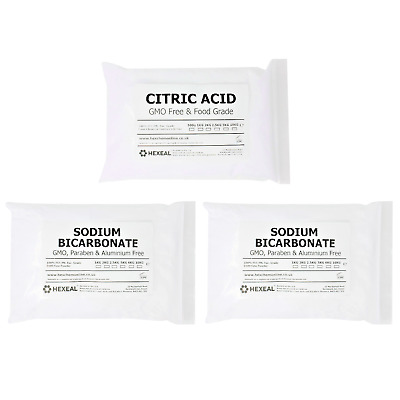 BATH BOMB KIT | 3KG | 1KG Citric Acid + 2KG Sodium Bicarbonate | BP/Food Grade