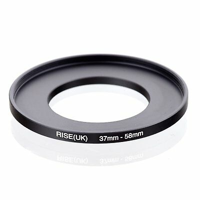 RISE(UK) 37mm-58mm 37-58 mm 37 to 58 Step Up Ring Filter Adapter black