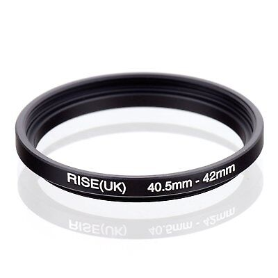 RISE(UK) 40.5mm-42mm 40.5-42 mm 40.5 to 42 Step Up Ring Filter Adapter black