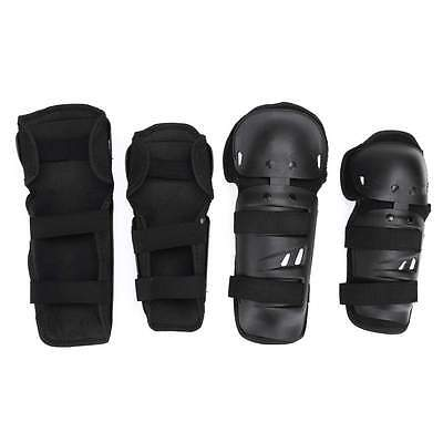For Racing Bicycle 4Pcs Adult Youth Knee Elbow Shin Protective Guard Pads Dirt
