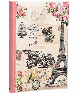 "Pink Vintage Large 6"" x 4'' 300 Photos Slipin Photo Album with Memo Area - FL300"