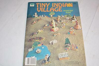 Vintage Whitman Tiny Neighborhood Press-Out Book 1973 Paper Village Town Model