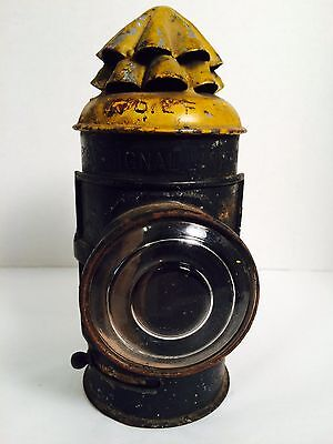 "EARLY 1900s BOAT SIGNAL ~ NAUTICAL LANTERN ~ OIL LIGHTING ~ 8-1/2"" ~ PLUME"