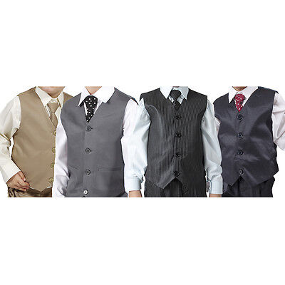 Boys Suits Boys Wedding Suit 4pc waistcoat Page Boy Baby Formal Party 4 Colours
